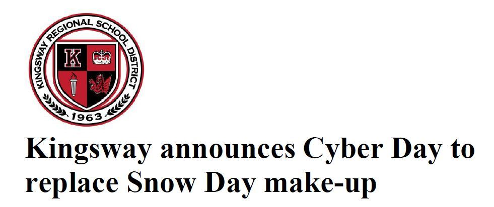 Cyber Day replaces Snow Day Make-Up