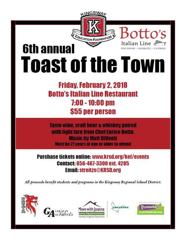 <font color=#BE1E2D><b>Toast of the Town </b></font>