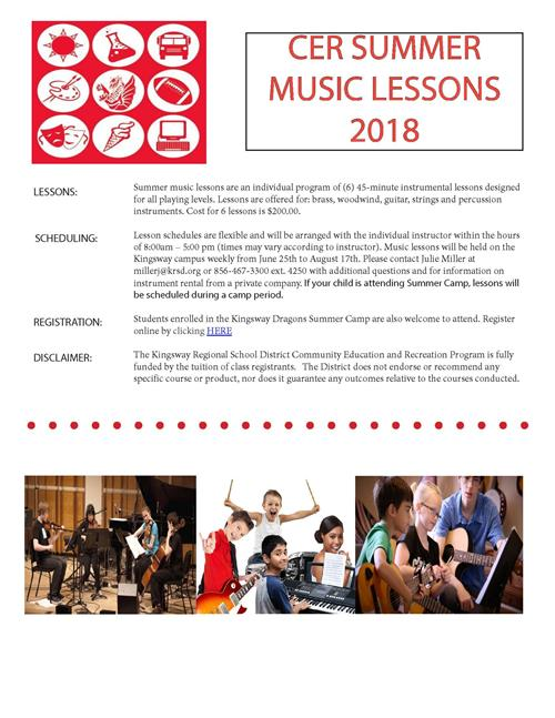 CER Summer Music Lessons