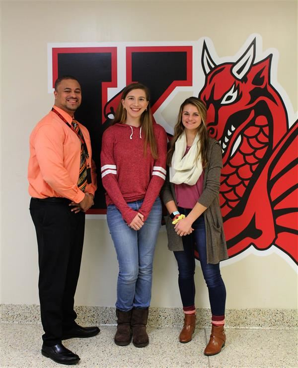 From L to R: Principal Melvin Allen, Rebecca Blaszczyk and Holly Chambers
