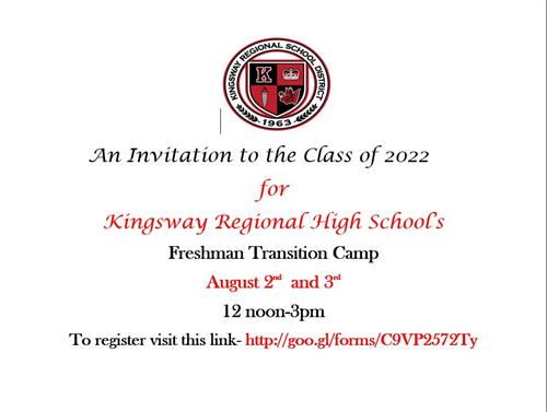 Attention all New to Kingsway High School!
